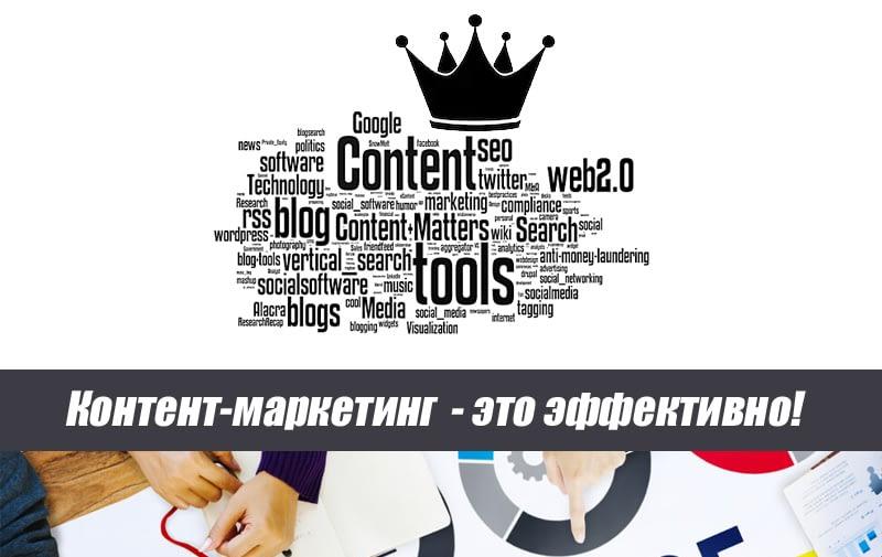 контент-маркетинг - это эффектинвно